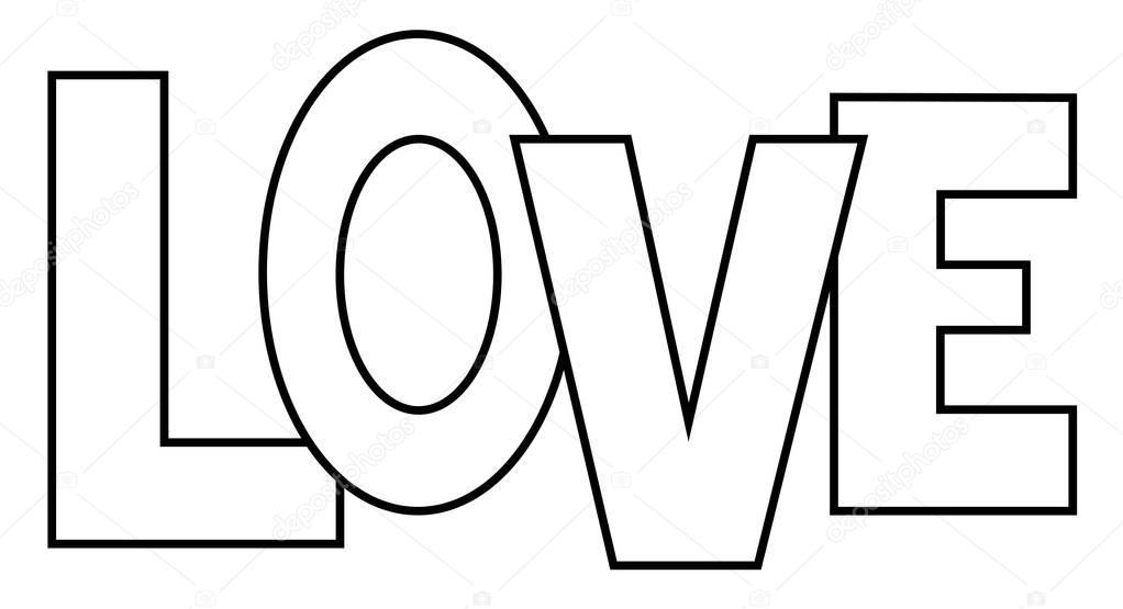 Kleurplaten Voor Liefde.Kleurplaat Van De Liefde Stockvector C Keeweegirl 138572440