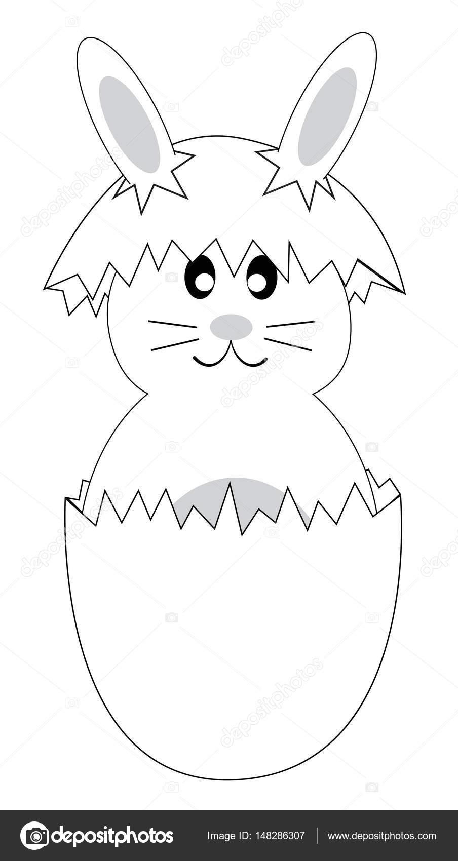 Página para colorear conejo de Pascua — Archivo Imágenes Vectoriales ...