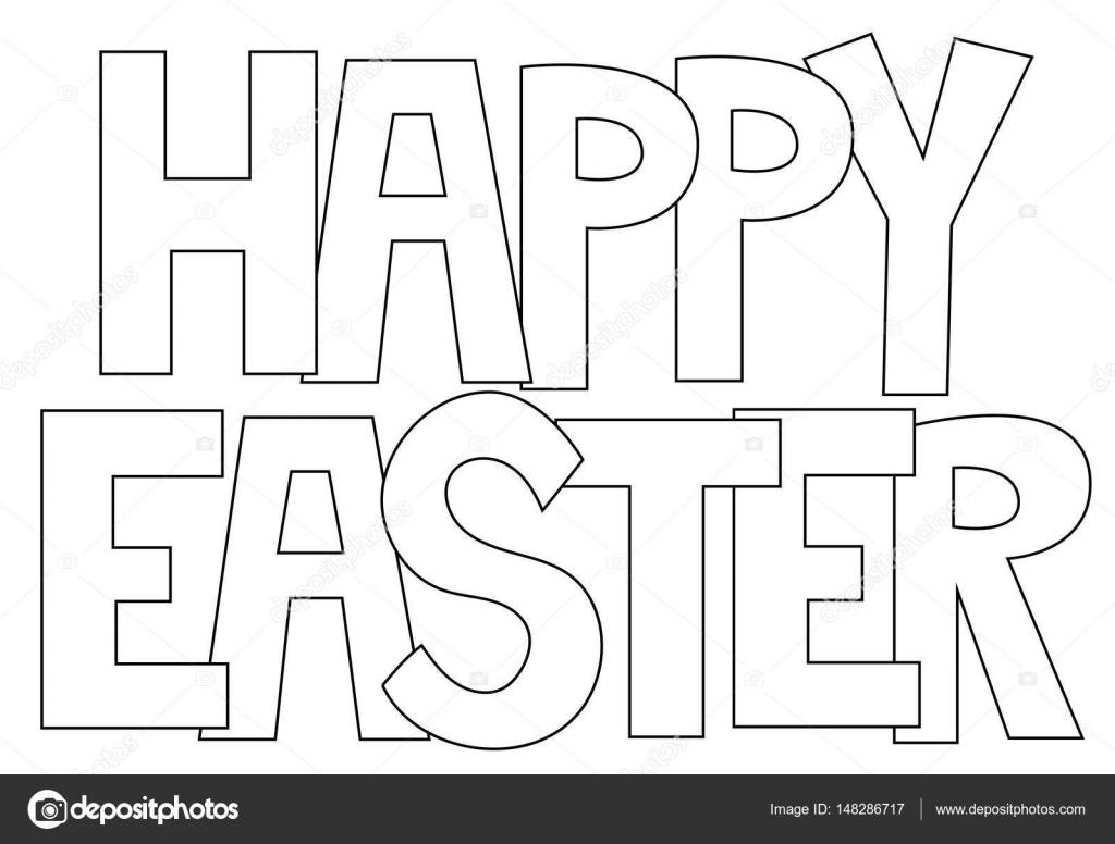 Frohe Ostern Buchstaben Malvorlagen — Stockvektor © keeweegirl ...