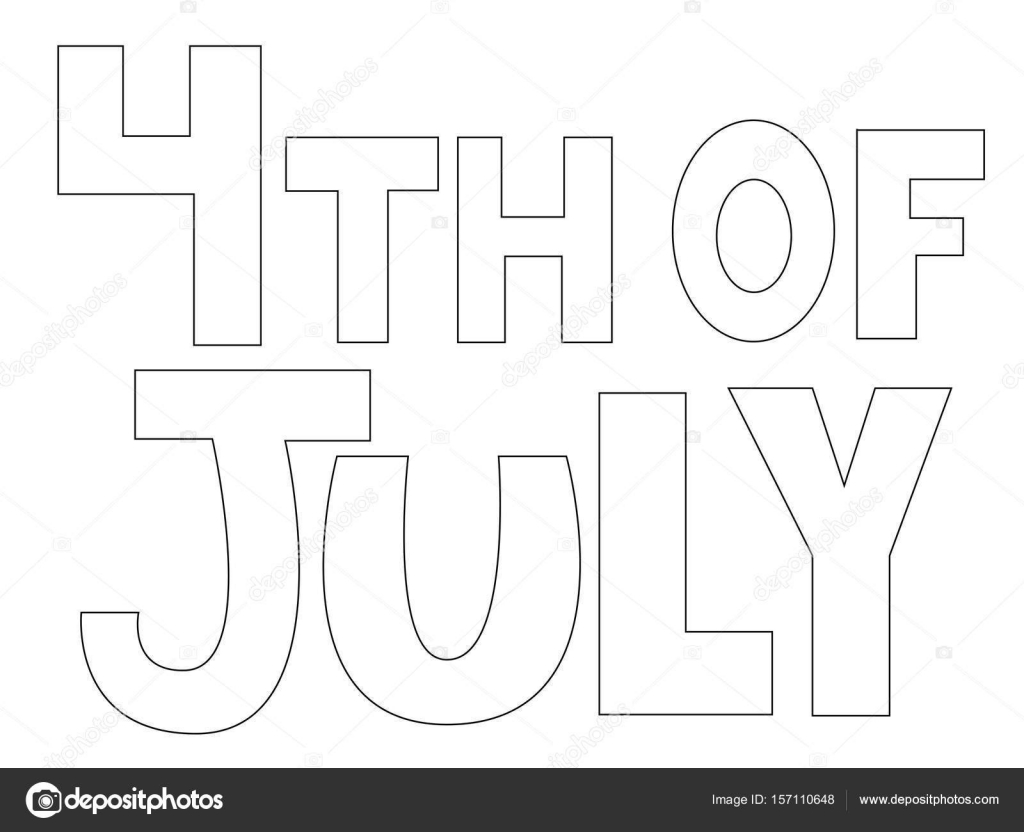 4 de julio para colorear página — Vector de stock © keeweegirl ...