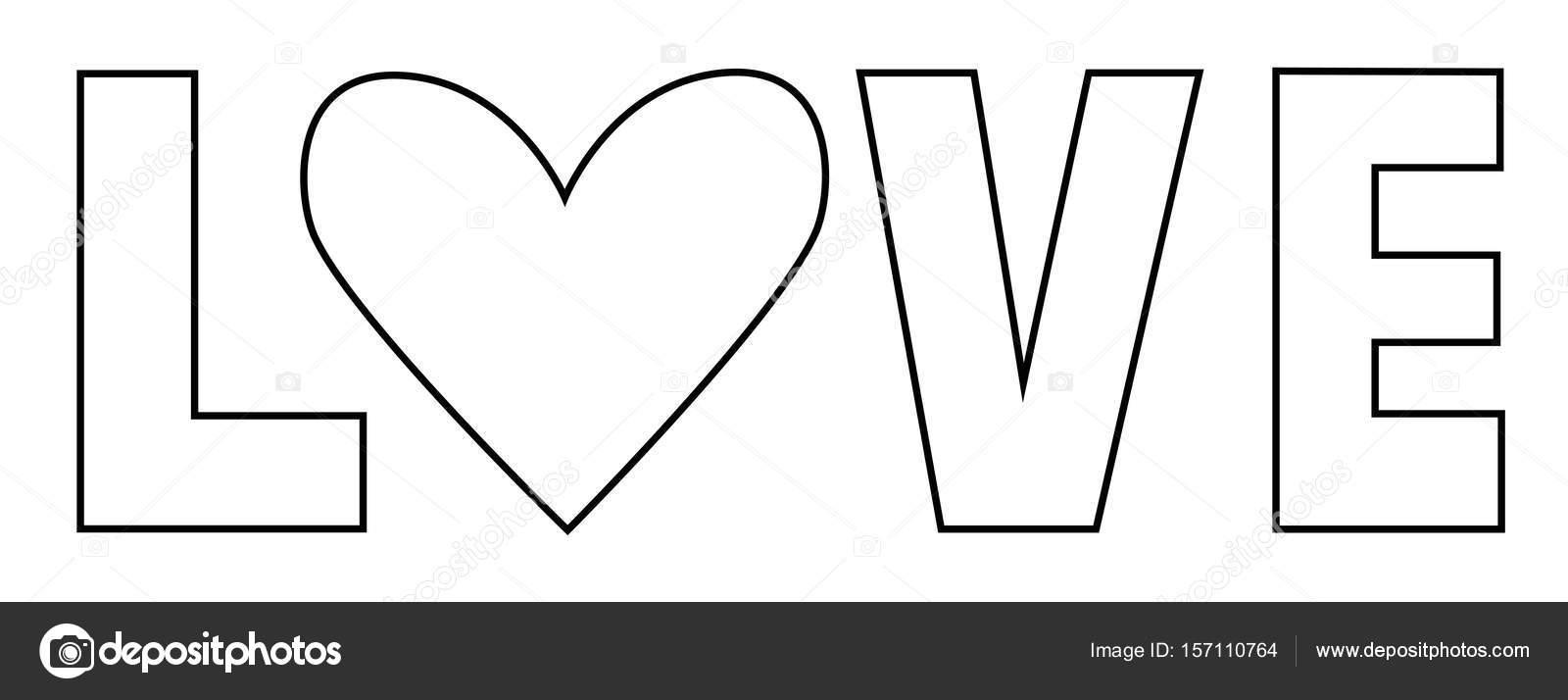 Página para colorear de amor Letras — Vector de stock © keeweegirl ...