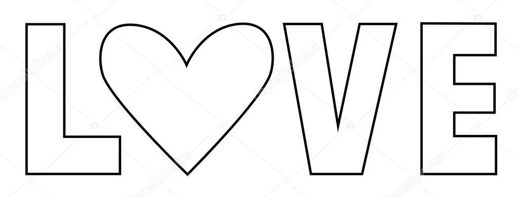 Volwassen Kleurplaten Herfst Love Letters Kleurplaat Stockvector 169 Keeweegirl 157110764