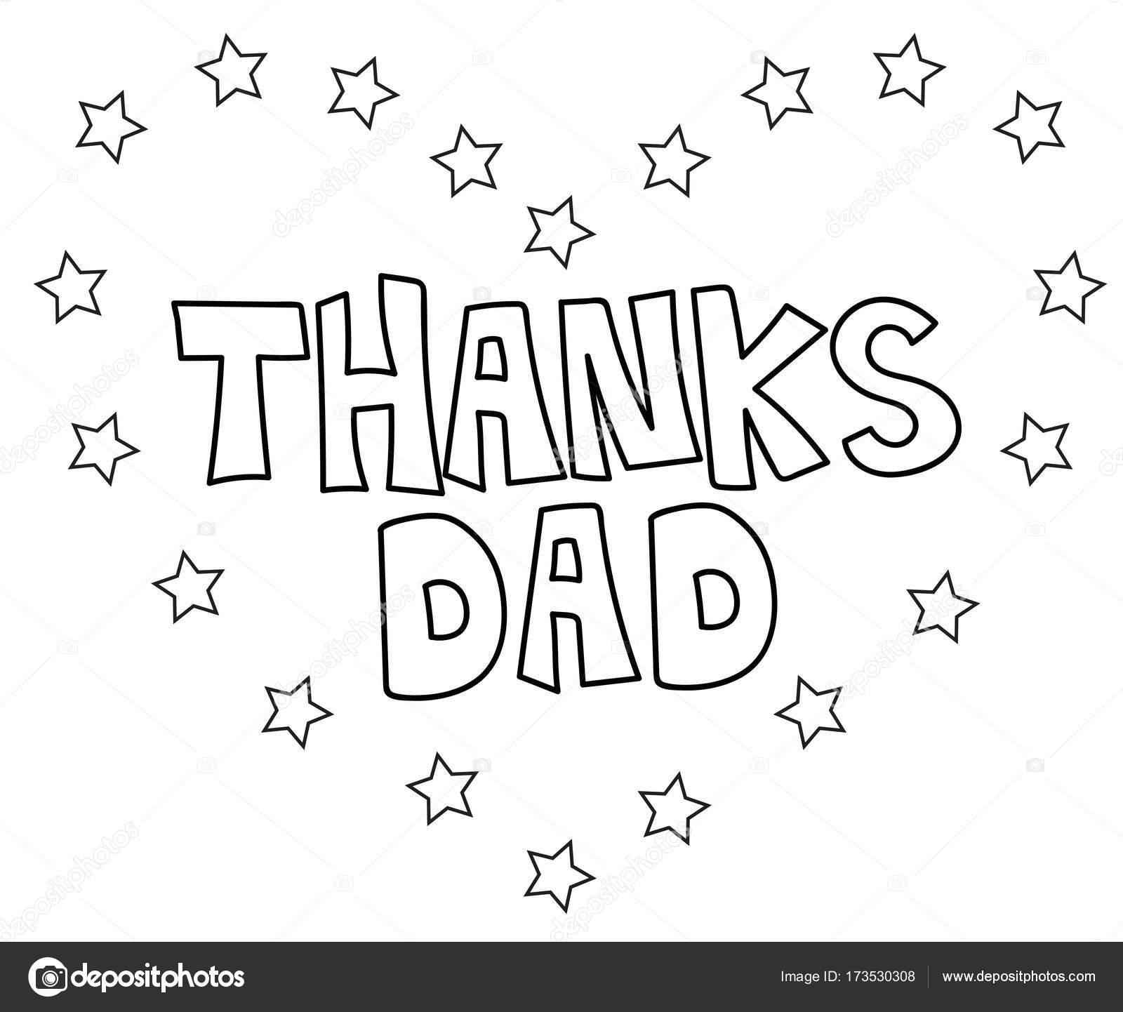 Danke Dad Herz Malvorlagen — Stockvektor © keeweegirl #173530308