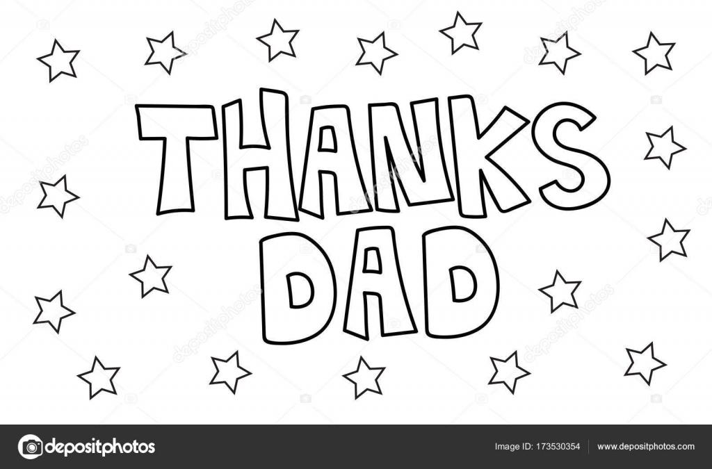 Teşekkürler Baba Boyama Sayfası Yıldız Stok Vektör Keeweegirl