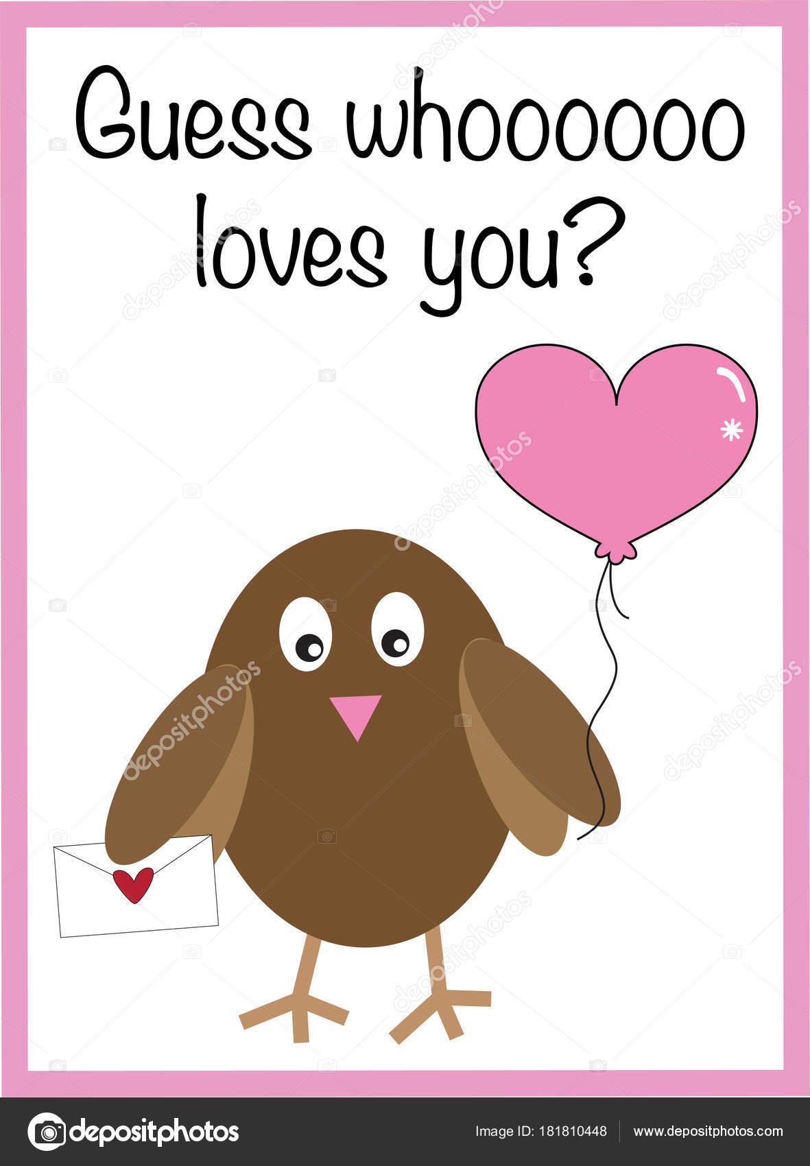 Dibujos Graciosos Para Adivinar Adivina Quien Te Ama San Valentin