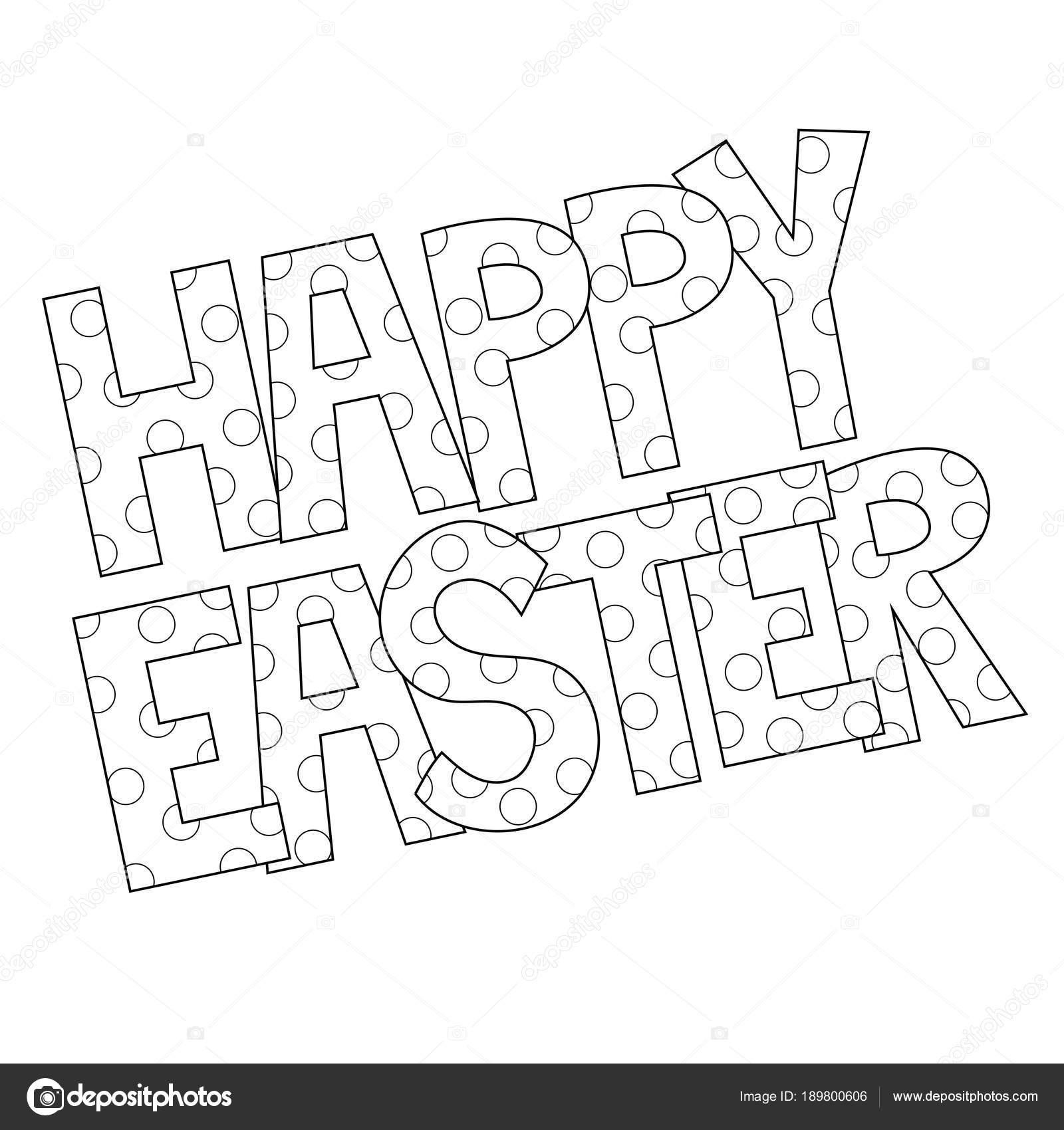 Buona Pasqua Da Colorare Vettoriali Stock Keeweegirl 189800606