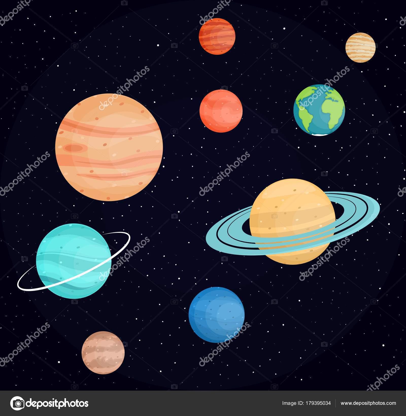 Dibujos Planetas Para Imprimir A Color Planetas Del