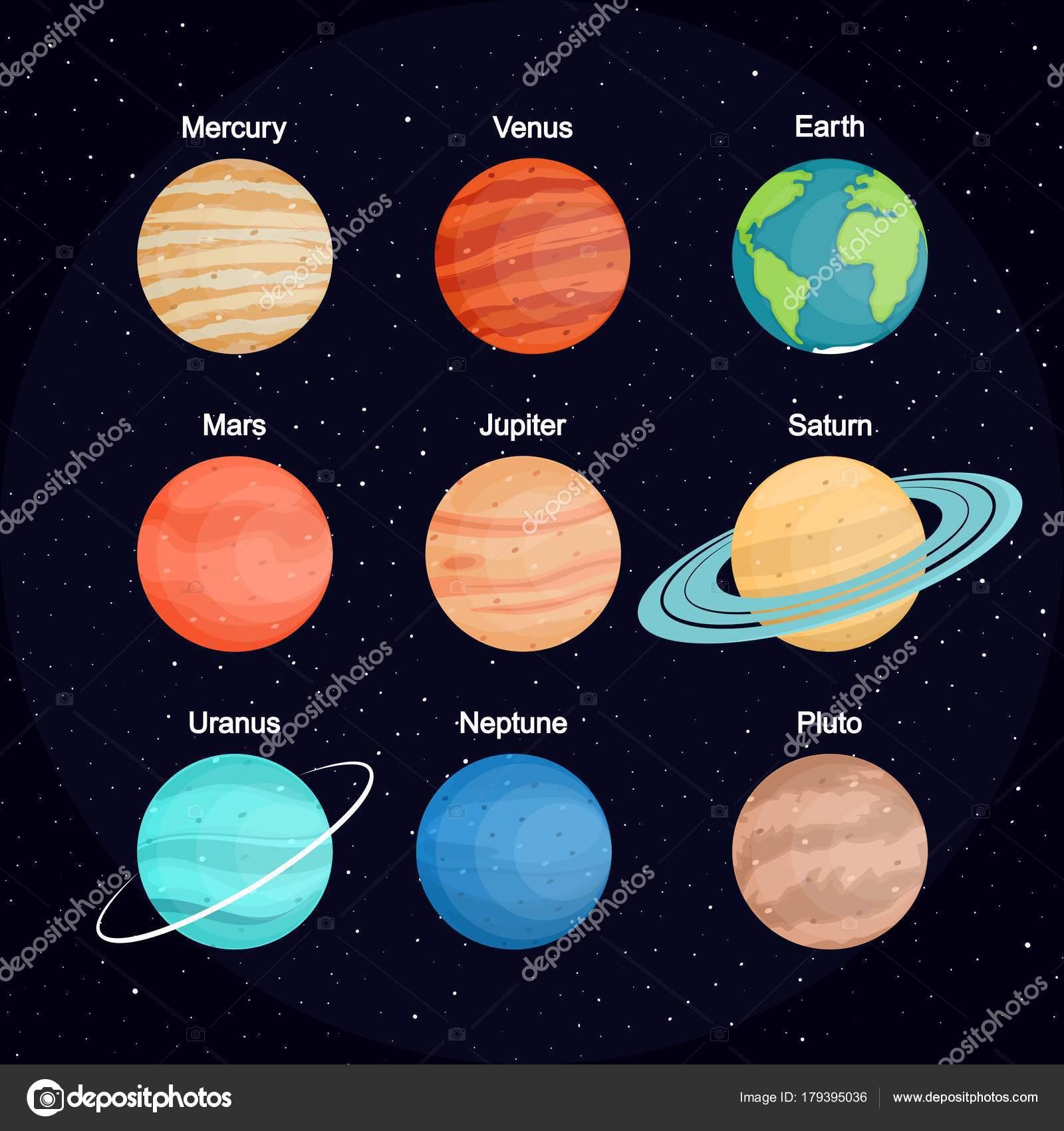 Fotos Planetas Sistema Solar Conjunto Los Planetas Del