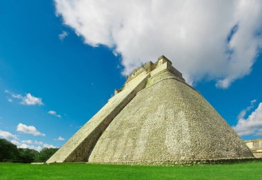 Pyramid of the Magician in Uxmal, ancient Maya city