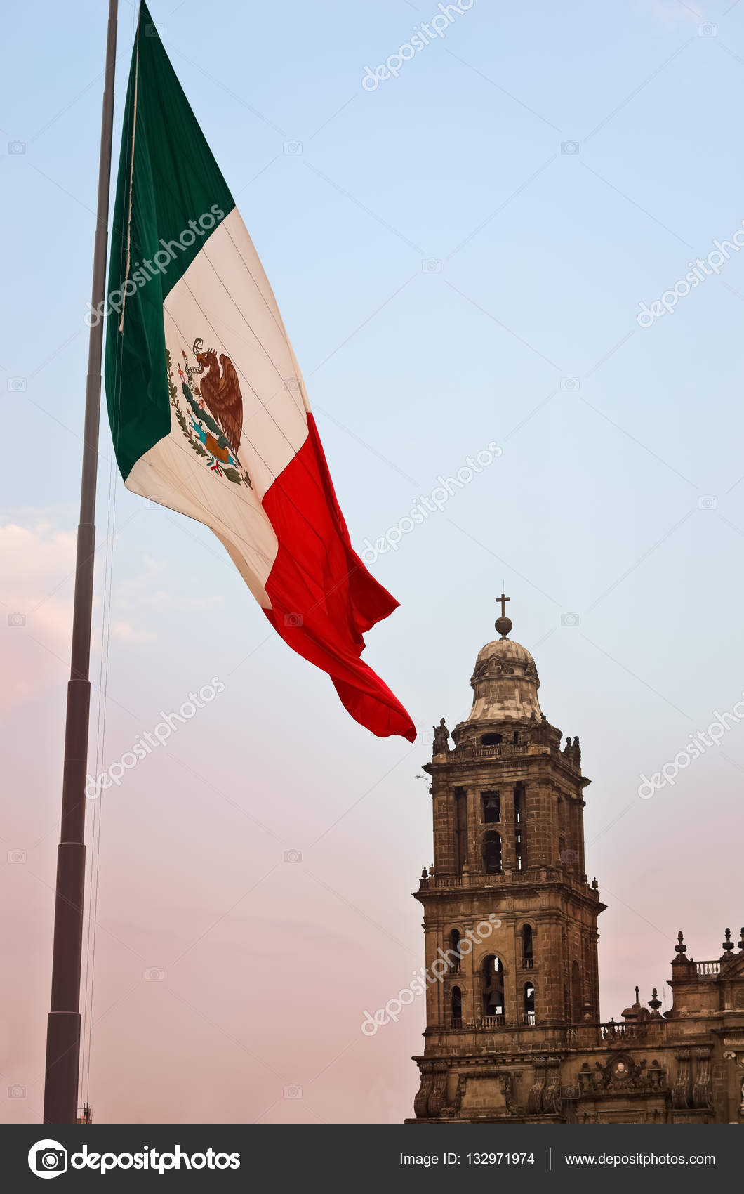 big mexican flag on zocalo u2014 stock photo byelikova 132971974