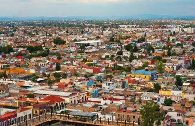 Aerial view of Cholula in Puebla