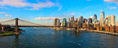 Brooklyn Bridge and Cityscape of New York