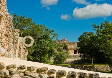 Ring for ball games at ruins of Uxmal