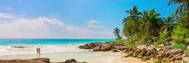 Tropical Sandy Beach on Caribbean Sea.
