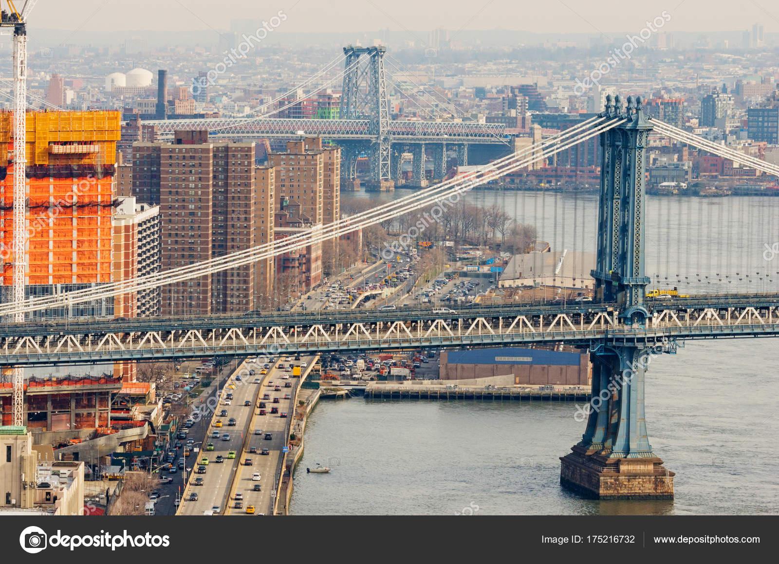 d7d50c15761 New York City Usa December 2016 View Manhattan Williamsburg Bridge ...