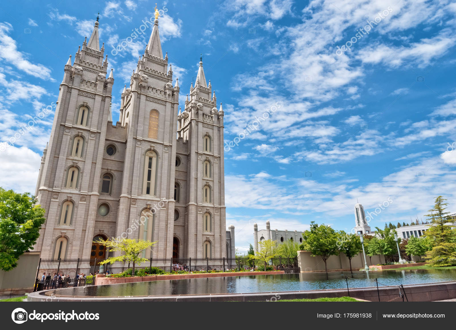 Salt Lake City Usa May 2017 Salt Lake Temple Temple – Stock