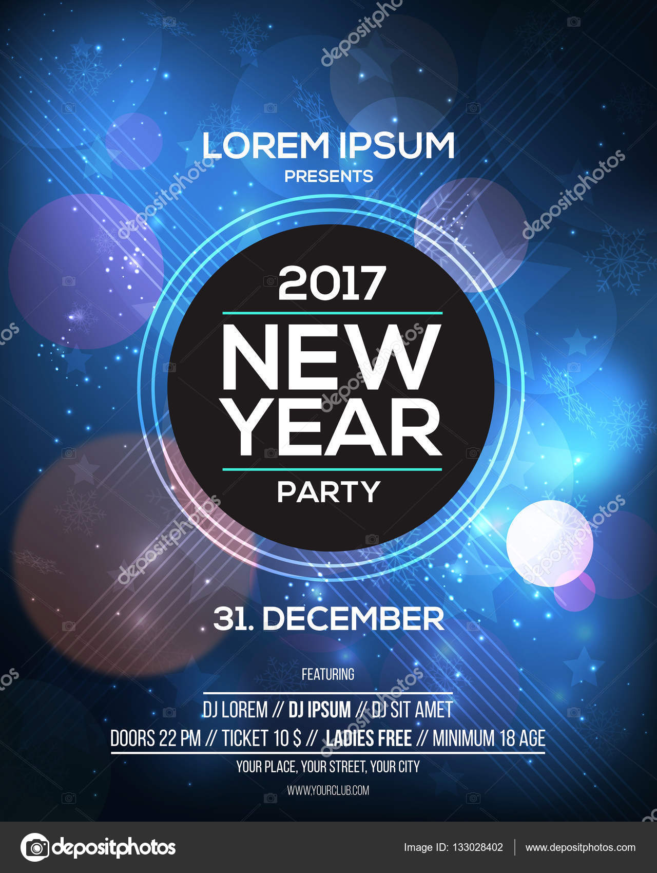happy new year 2017 flyer template for websites and mobile websites can be used for posters web banners promotion materials