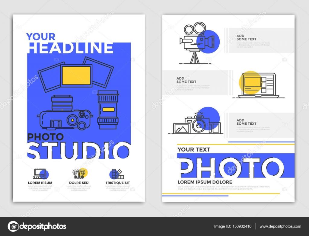 Broschüre Design-Vorlage - Fotografie — Stockvektor © darkovujic ...