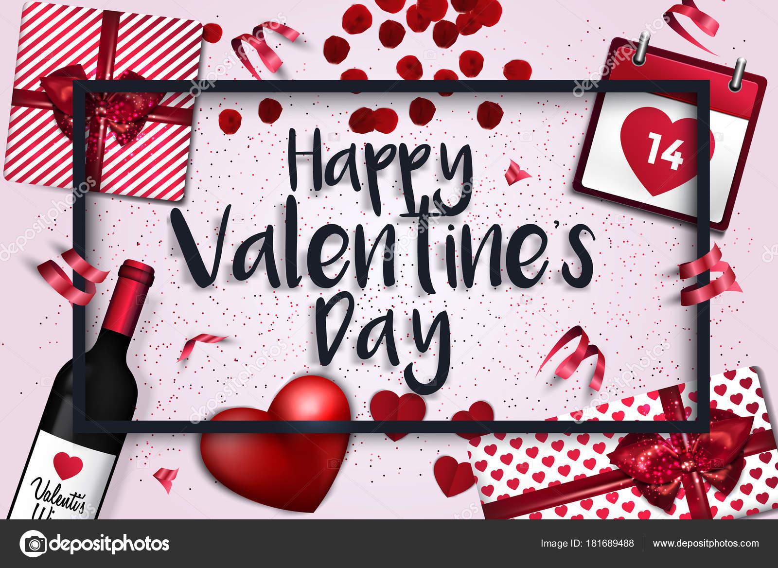 Valentinstag Karte - 2018-3 — Stockvektor © darkovujic #181689488