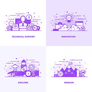 Flat line Purple Designed Concepts 11