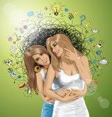 dvě evropské šťastné ženy