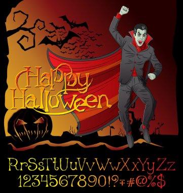 Vampire Dracula Halloween background