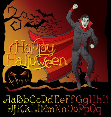 Vampire Dracula Halloween background