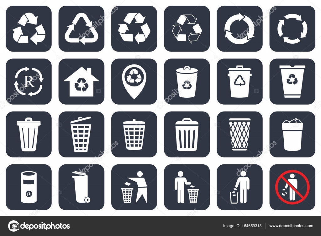 Trashcan Icons Set Cartoon Style Csp38438995
