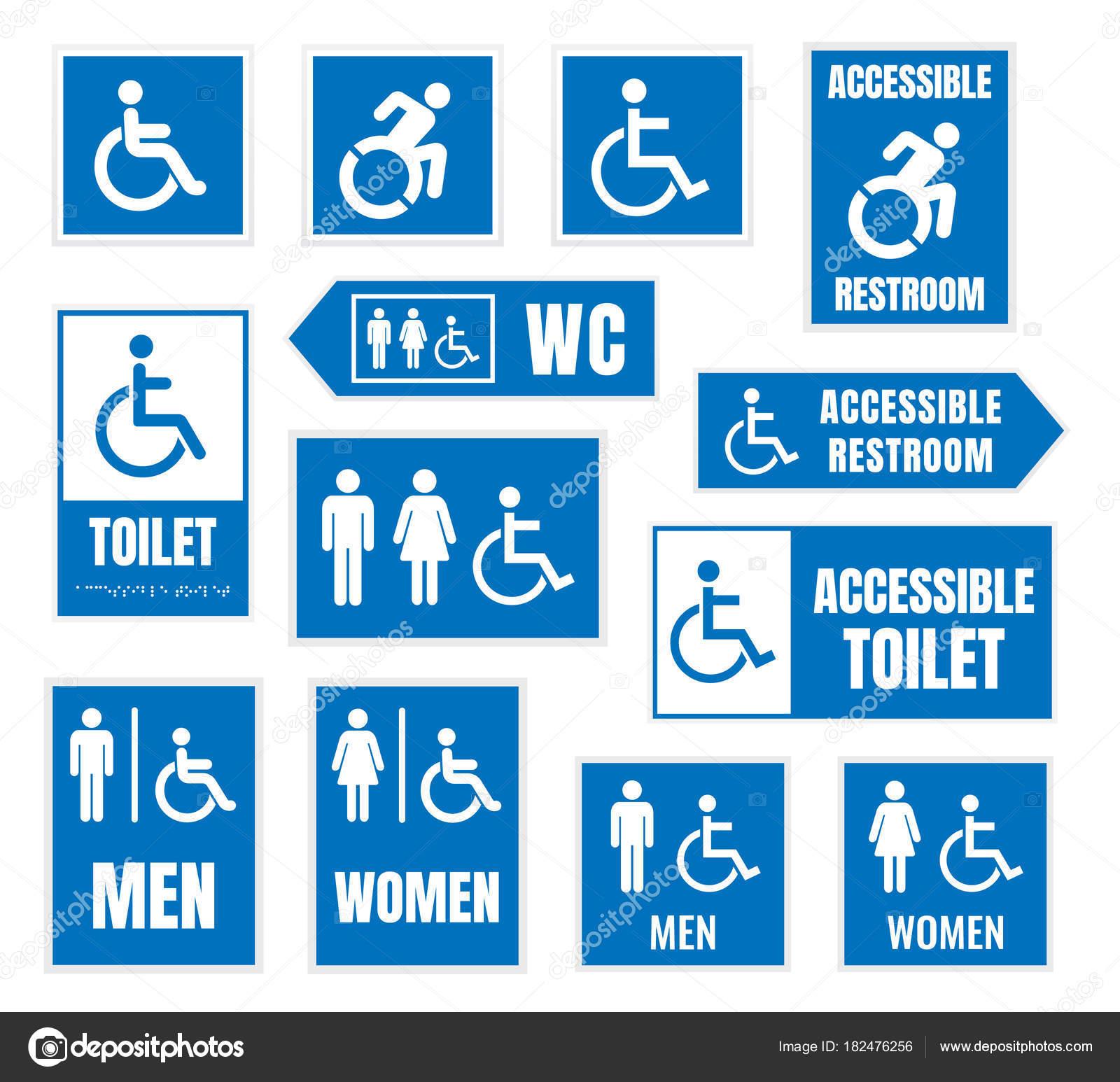 Cartello bagno uomini idee per la casa - Obbligo bagno disabili ...