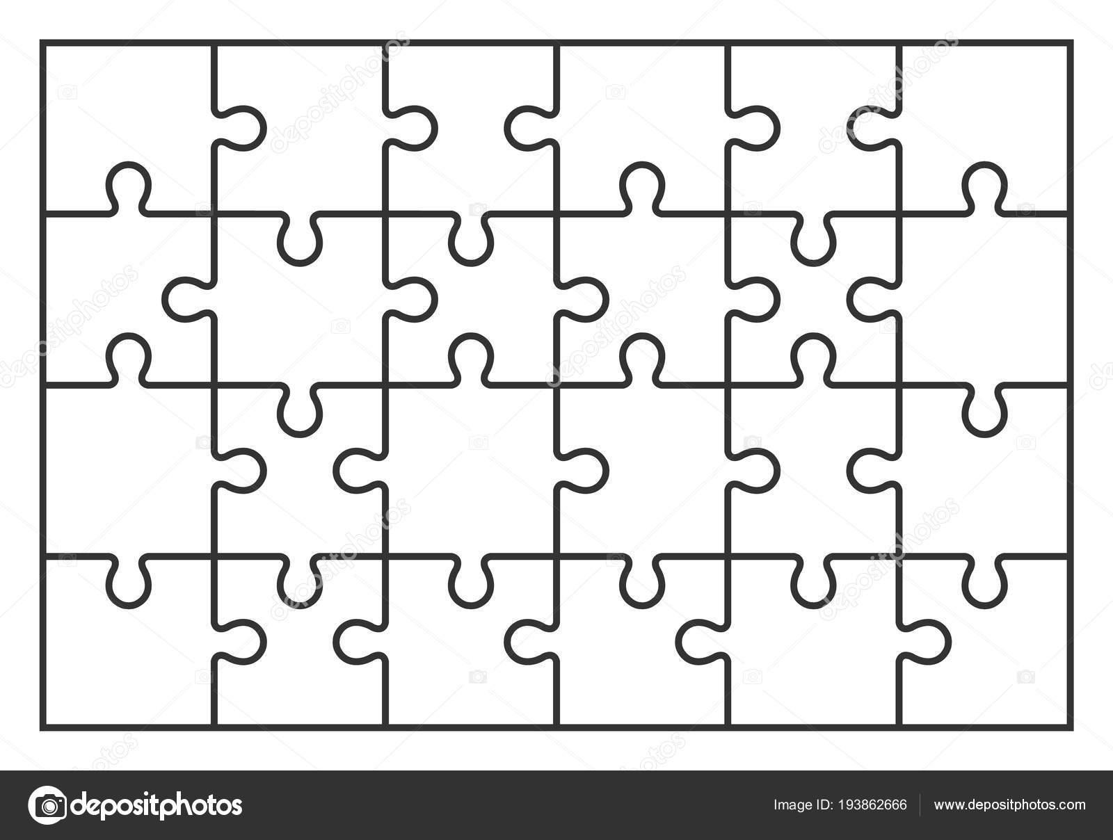 Puzzle Juego De Rompecabezas De 24 Piezas En Vector