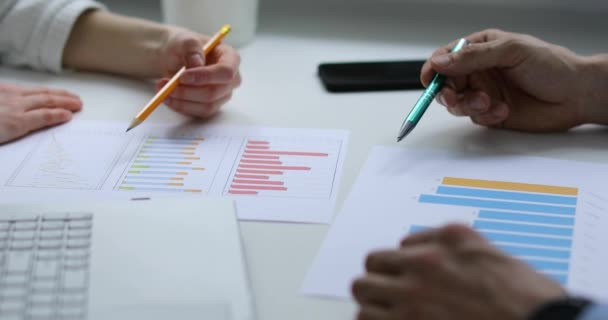 office teamwork - business people discussing financial reports