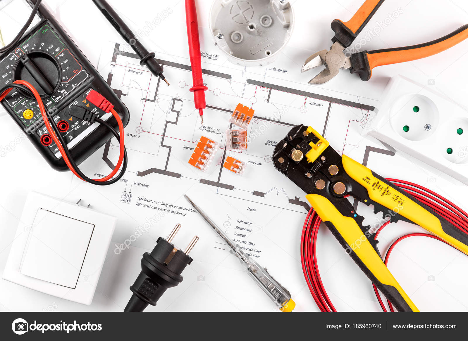 Astounding Electrical Tools And Equipment On Wiring Diagram Top View Stock Wiring 101 Capemaxxcnl