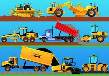 Road works. Detailed vector illustration