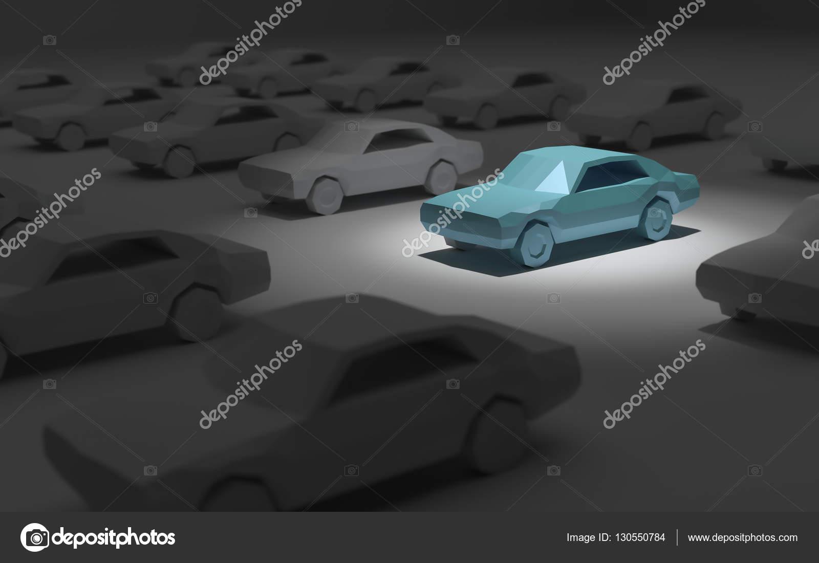 car parking spotlight 3d rendering — Stock Photo © chonnajak #130550784
