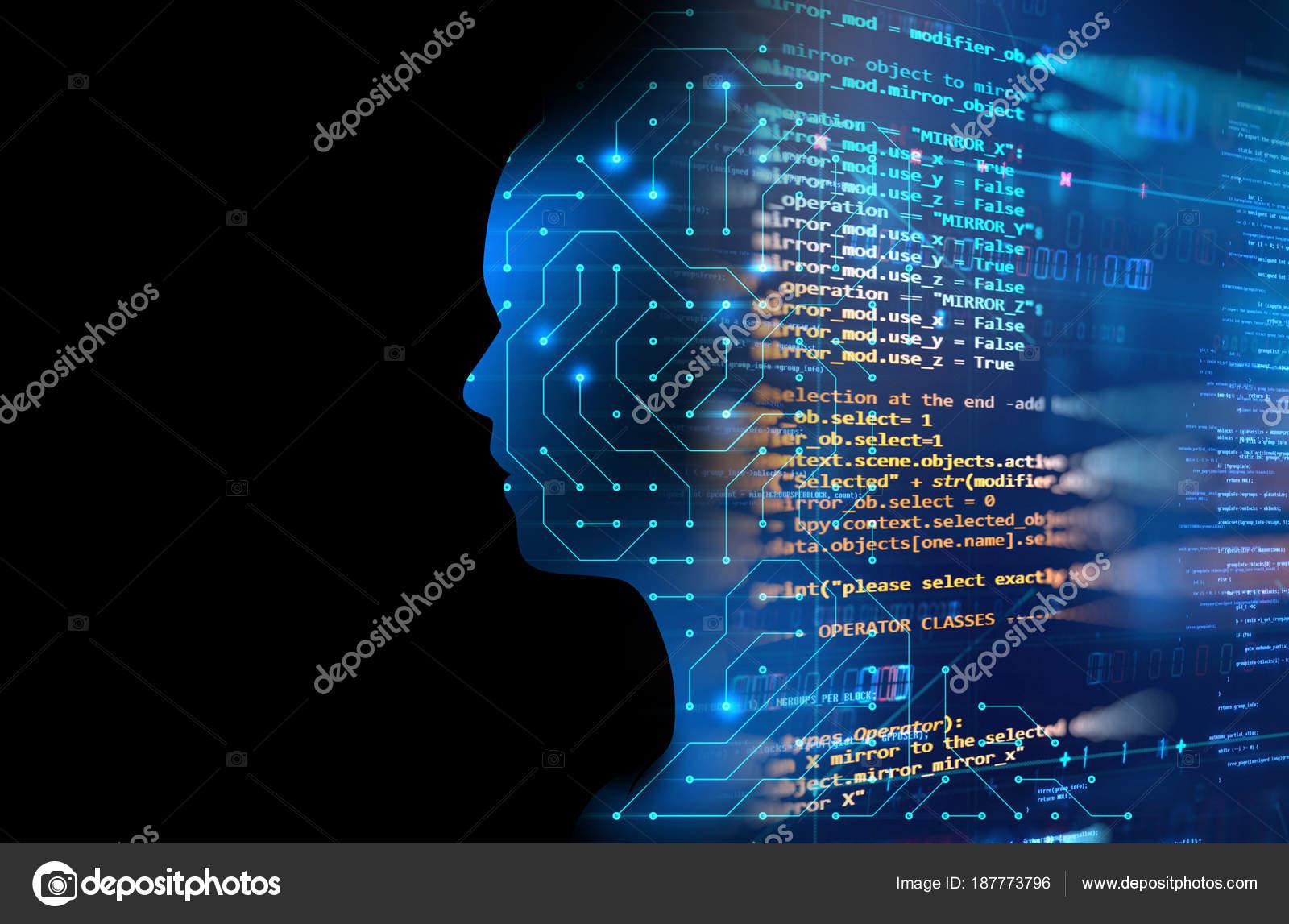 Circuito Z : Silueta de humanos virtuales en 3d mal de circuito patrón tecnología