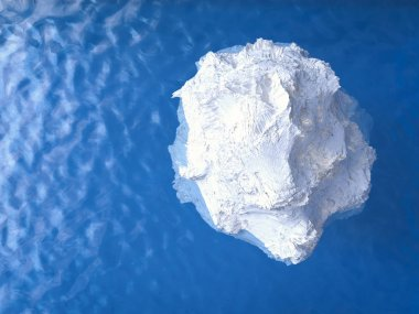 iceberg floating top view