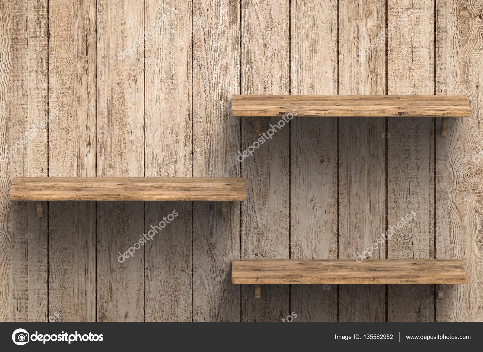 Houten Planken Aan De Muur.3 Houten Planken Op Muur Stockfoto C Phonlamai 135562952