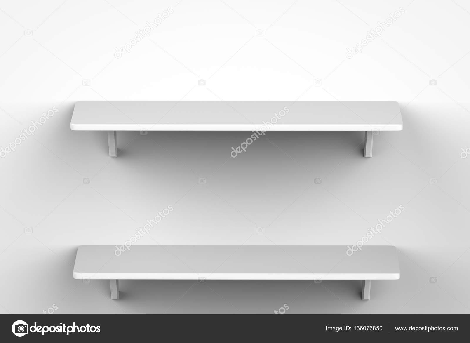 Białe Półki Na ścianie Zdjęcie Stockowe Phonlamai 136076850