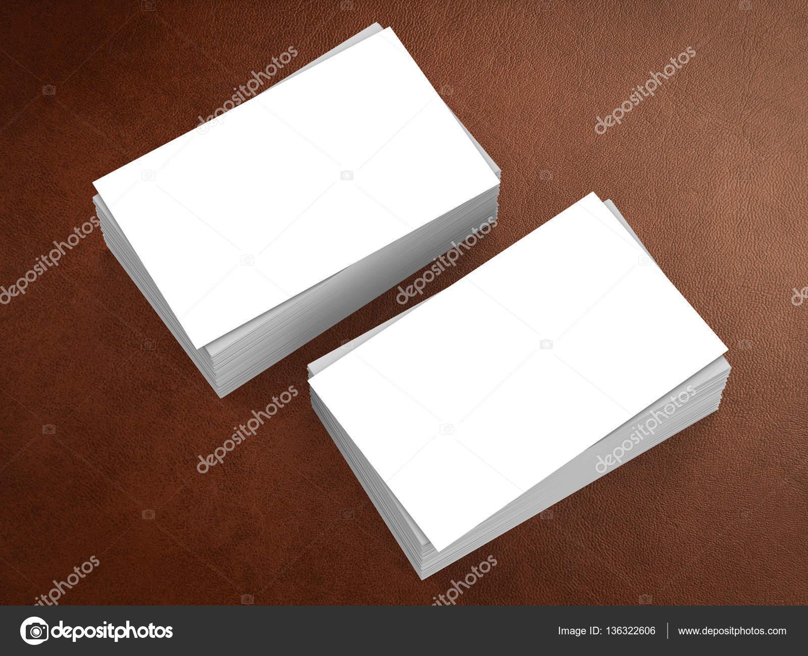 Stapel Von Leeren Visitenkarten Stockfoto Phonlamai