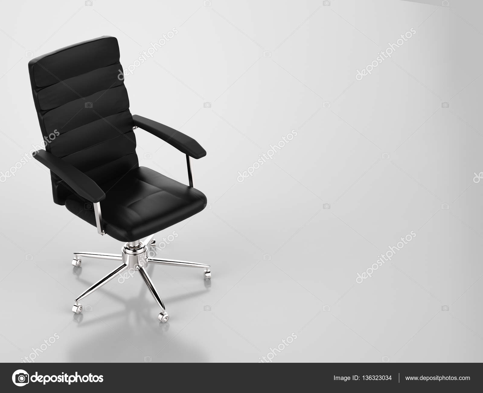 Sedie Da Ufficio In Pelle : Sedia da ufficio in pelle nera u foto stock phonlamai