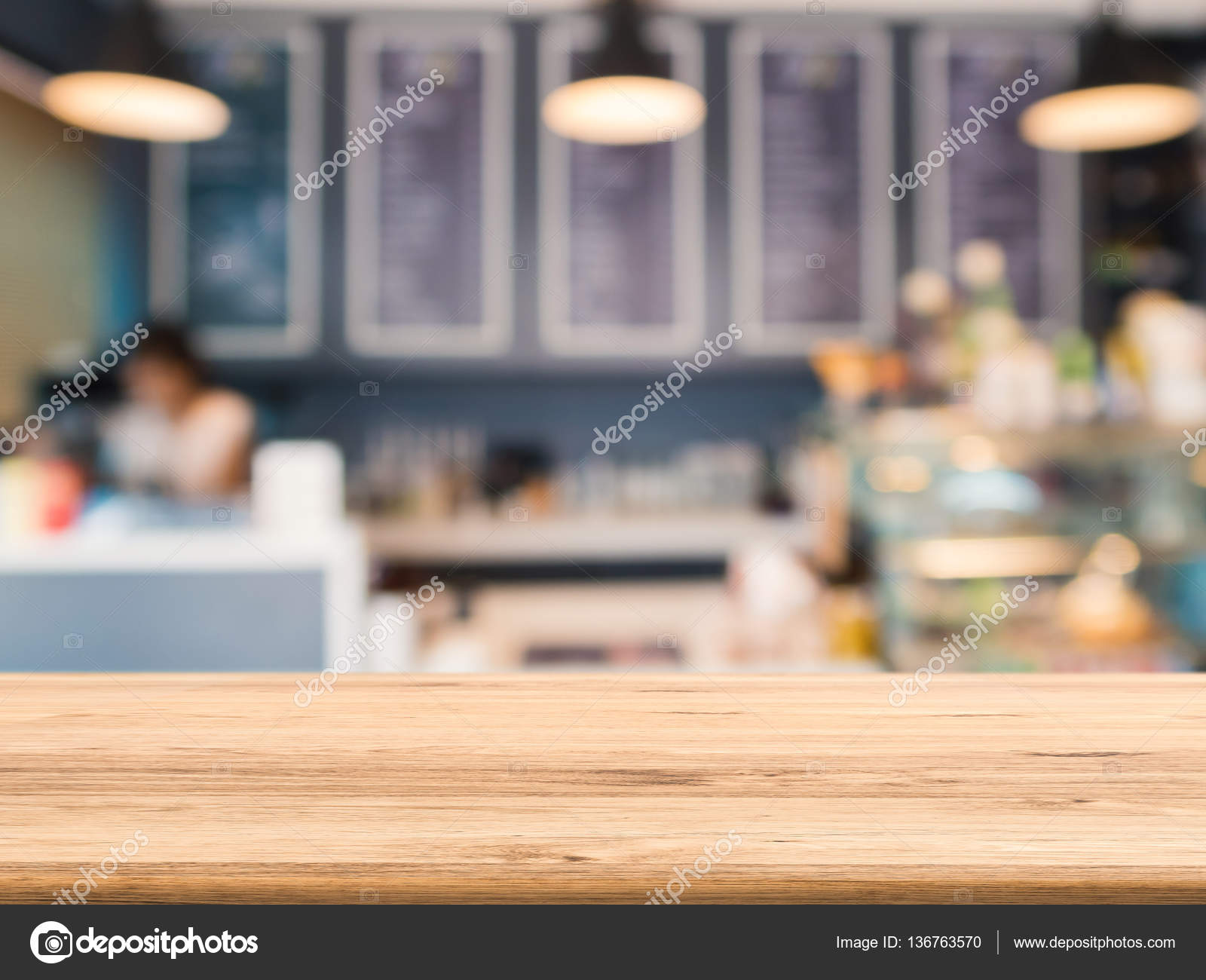 Bancone In Legno Per Negozio : Bancone in legno con sfondo negozio panetteria u2014 foto stock