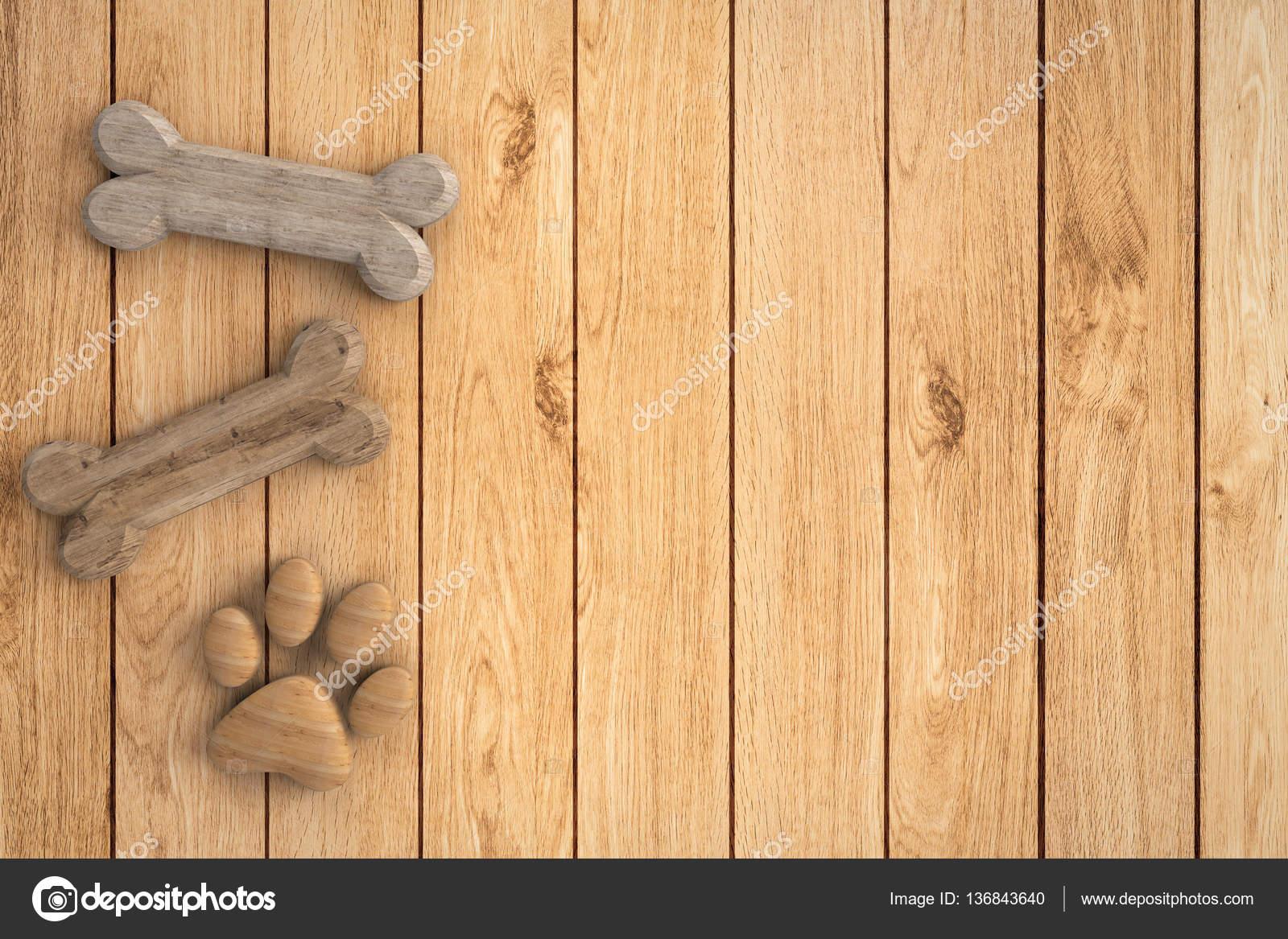 dog bones on wooden background stock photo phonlamai 136843640