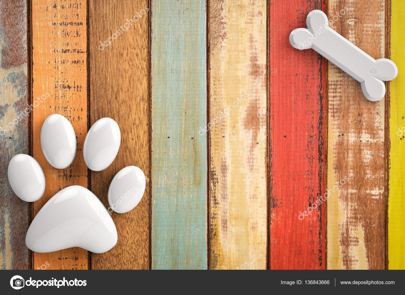 dog bones on wooden background stock photo phonlamai 136843666