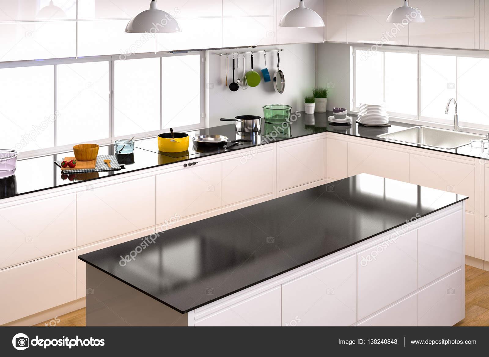 keuken interieur met lege counter — Stockfoto © phonlamai #138240848
