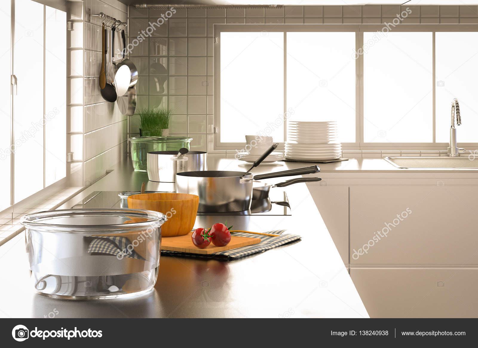 Glasschale mit Küchenutensilien — Stockfoto © phonlamai #138240938