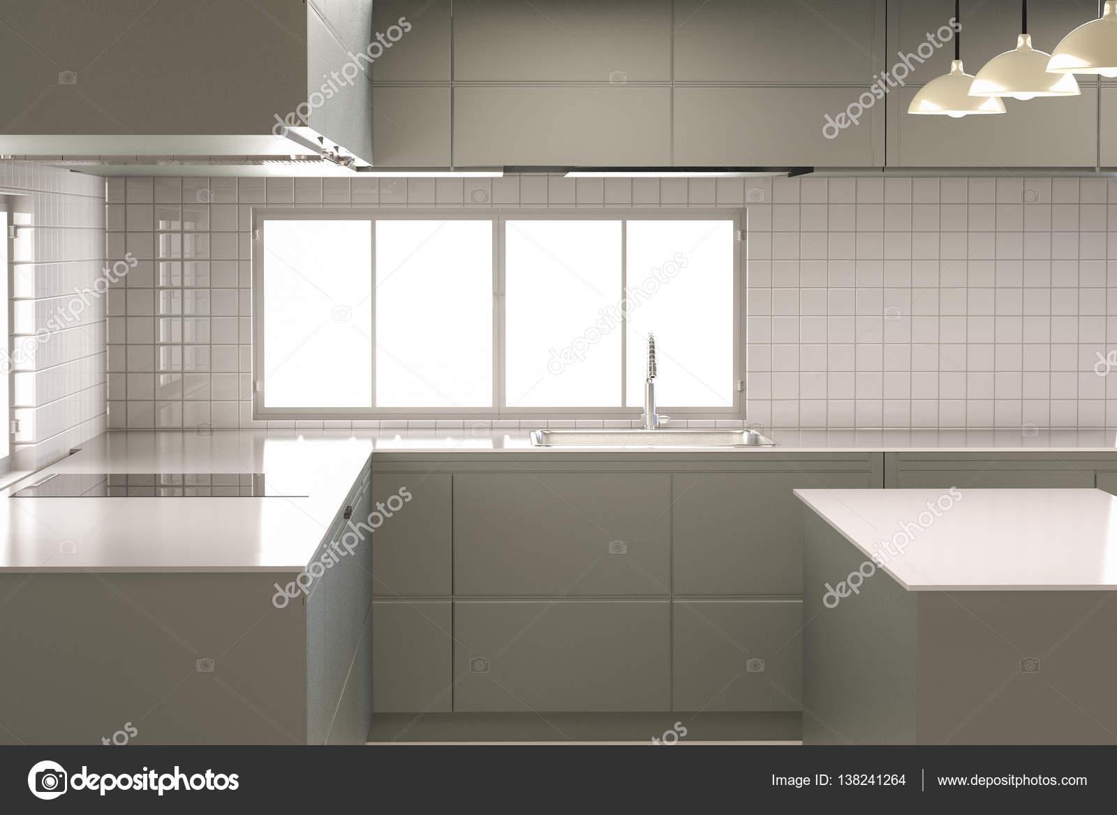 Cozinha Moderna Vazia Stock Photo Phonlamai 138241264