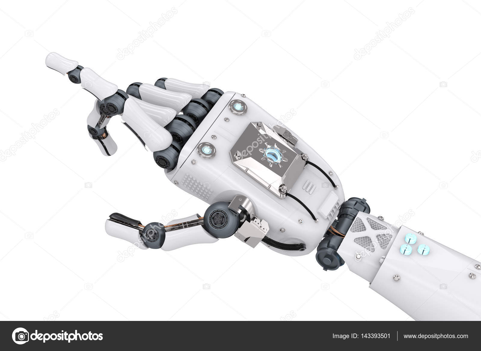 Robot hand pointing   Robotic hand pointing — Stock Photo