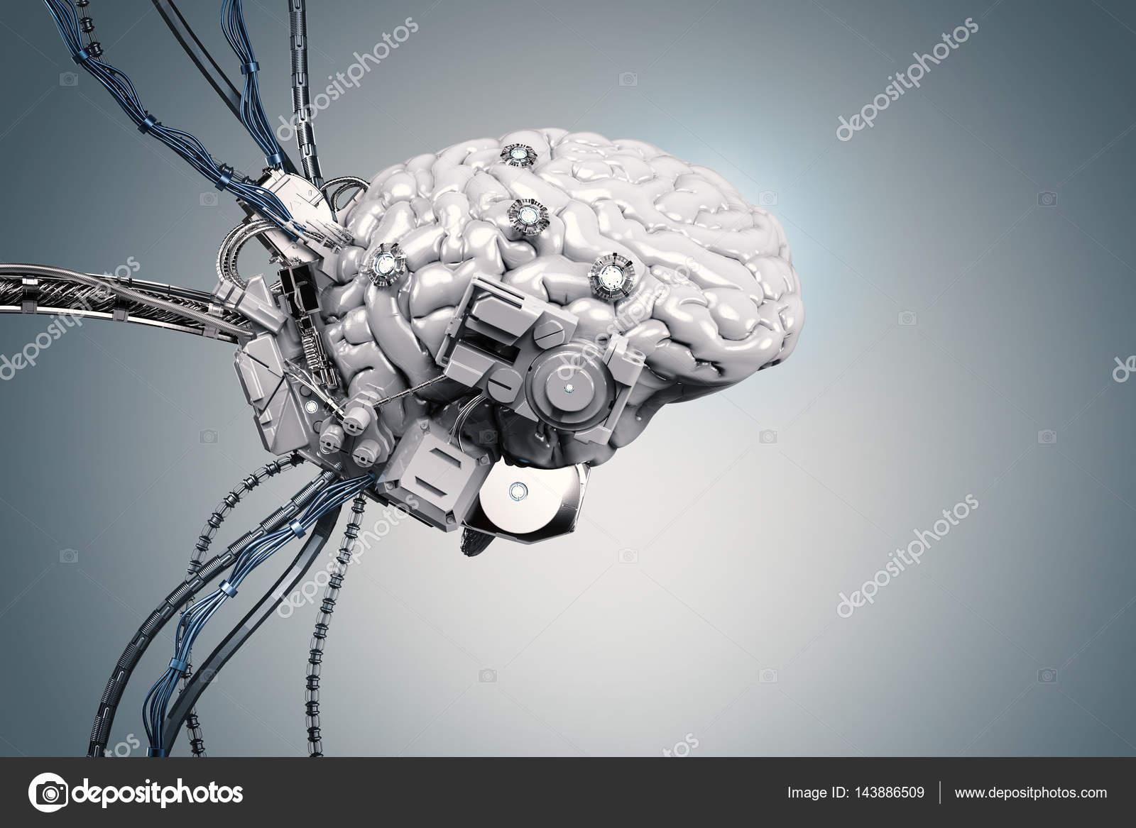 Roboter Gehirn mit Drähten — Stockfoto © phonlamai #143886509