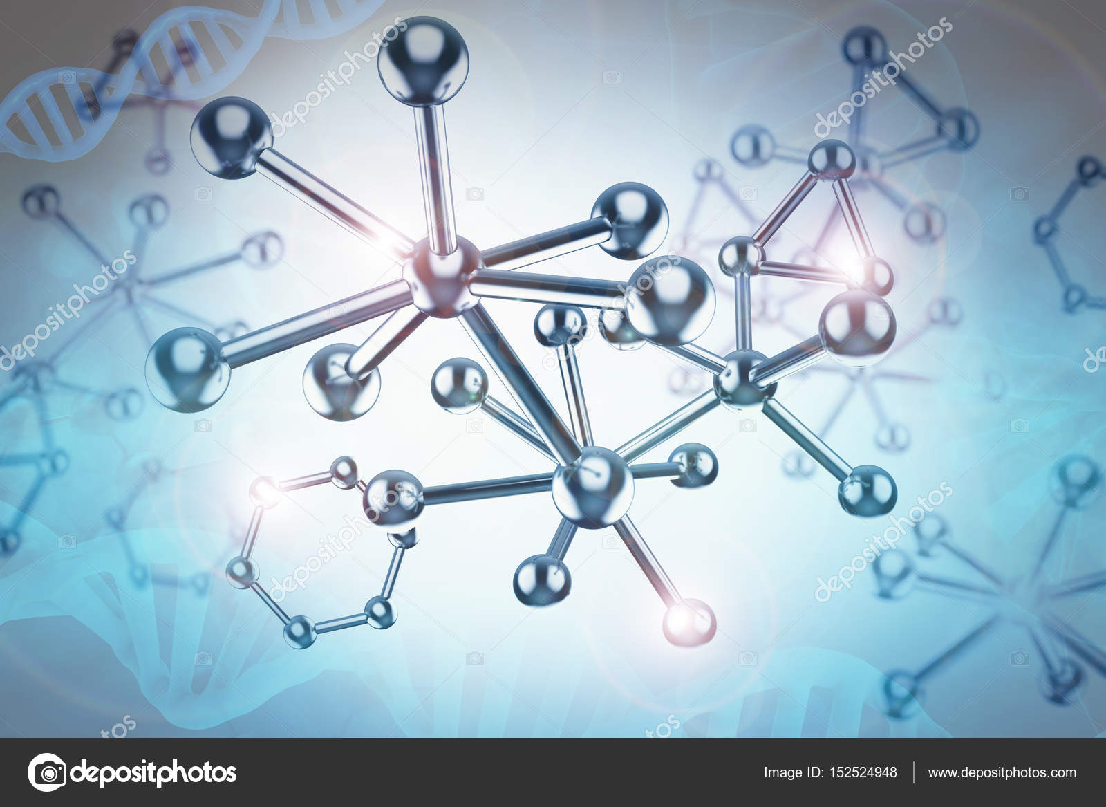 Estructura de la mol cula de metal azul foto de stock phonlamai 152524948 - Estructura de metal ...