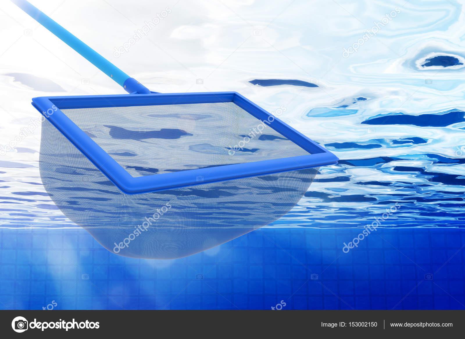 kescher oder fischernetz mit pool — stockfoto © phonlamai #153002150